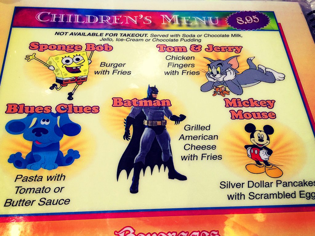 Kids Menu Orion