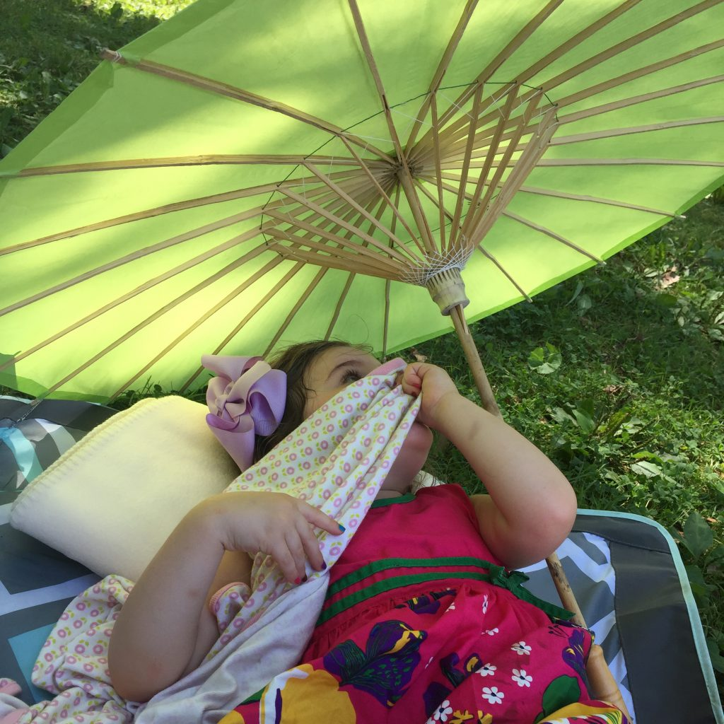 Don't forget your parasol for an impromptu lawn nap!
