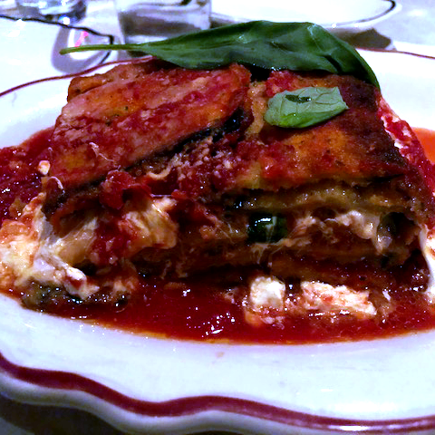 Eggplant Parm Italian Kid Friendly restaurant